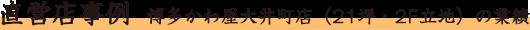 直営店事例 博多かわ屋大井町店(21坪・2F立地)の業績